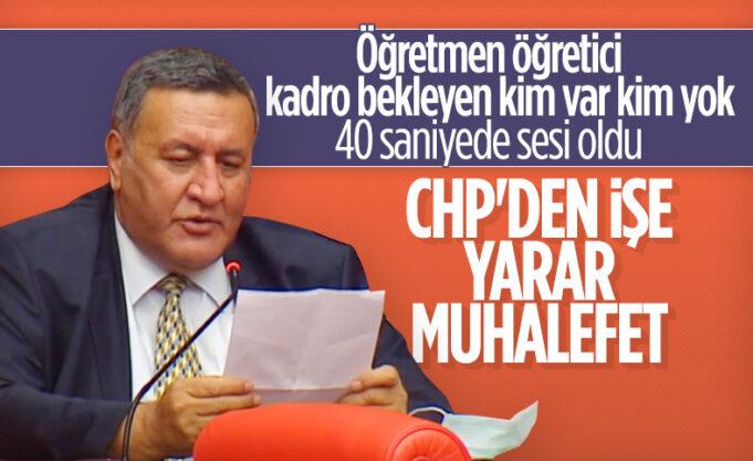 CHP'li Ömer Fethi Gürer, 40 saniyede 6 soru sordu