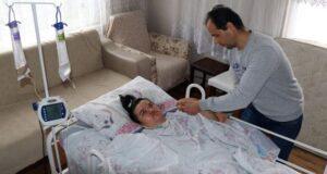 Doğumda iki kez kalbi duran kadın hayata döndürüldü ancak yatağa mahkum oldu