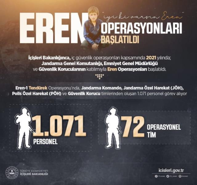 Eren Bülbül anısına 'Eren Operasyonları' başlatıldı