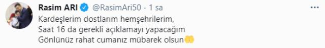 İstifa edeceği konuşulan Nevşehir Belediye Başkanı 'Hakkınızı helal edin' paylaşımı yaptı