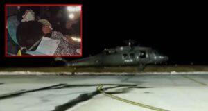 Kalp krizi geçiren vatandaş polis helikopteriyle hastaneye ulaştırıldı