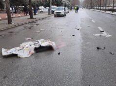 Kazada can verdi,dağıttığı gazetelerle cansız bedeni örtüldü