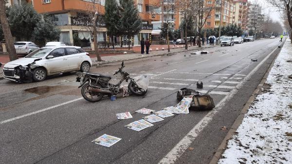 Kazada can verdi, dağıttığı gazetelerle cansız bedeni örtüldü