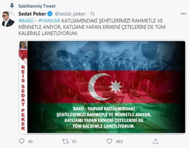 Makedonya'dan sınır dışı edilen Sedat Peker suskunluğunu 'Yanvar Katliamı' ile bozdu