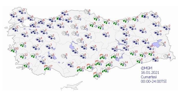 Meteoroloji tek tek uyardı! İstanbul dahil 43 ilde kar yağışı etkili olacak