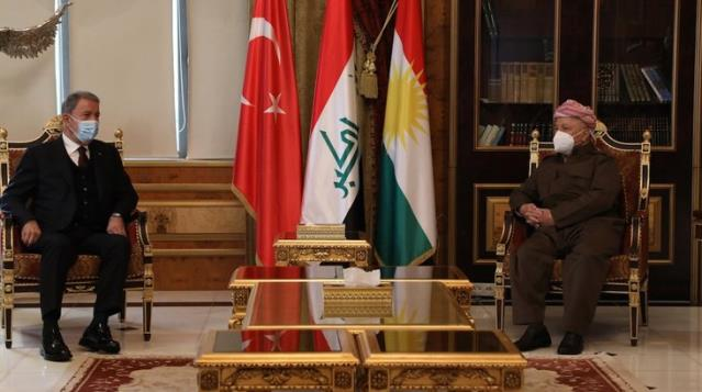 Son Dakika! Mesud Barzani ve oğlu ile görüşen Hulusi Akar'dan kritik mesaj: Bütün mücadelemiz terör örgütüne karşı