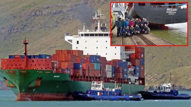 Türk gemisini yarım saat kovalayan korsanlar, balyozla kıramadıkları kapıları taş motoruyla kesmişler