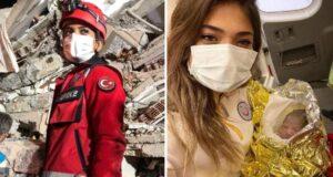 İzmir depreminde İnci'yi kurtaran Edanur, bu kez otobüste doğum yaptırdı