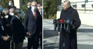 Muhabirin ısrarla HDP'nin muhalefet turunu sorduğu Cumhurbaşkanı Erdoğan: Bunlar yeni değil diyorum