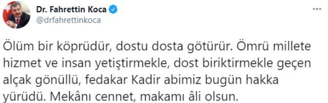 Son Dakika! Eski İstanbul Büyükşehir Belediye Başkanı Kadir Topbaş hayatını kaybetti