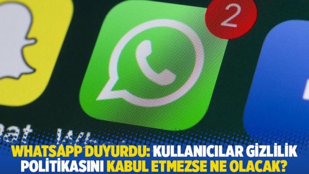 WhatsApp duyurdu: Kullanıcılar gizlilik politikasını kabul etmezse ne olacak?