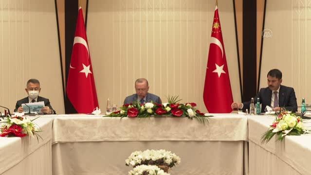 Cumhurbaşkanı Erdoğan, müsilaj sorununun çözümü için özel toplantı gerçekleştirdi