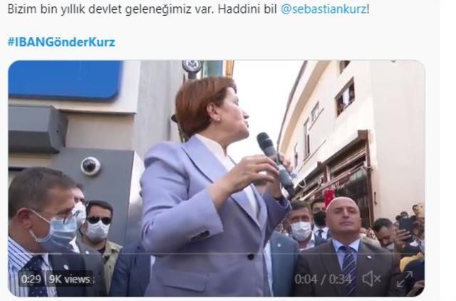 Akşener'den ırkçı lider Kurz'a mülteci yanıtı! '3 milyar euro verelim siz alın' sözleri sosyal medyada kampanyaya dönüştü