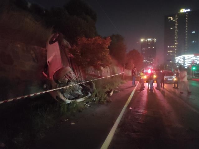 Bağcılar'daki trafik kazasında 2 kişi yaralandı