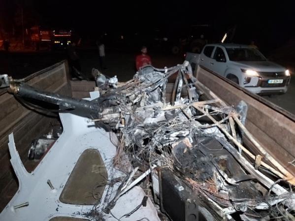Çanakkale'de gözetleme uçuşu yapan insansız helikopter düştü