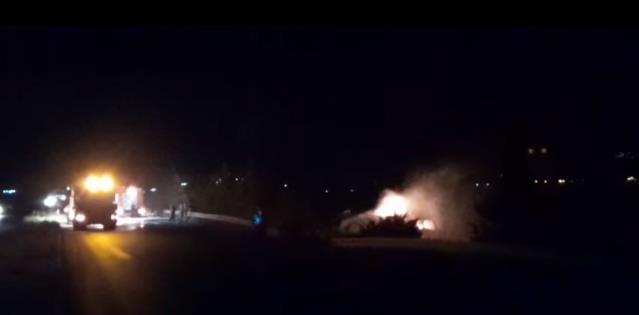 Kontrolden çıkan yakıt tankeri devrilip alev aldı: 1 ölü